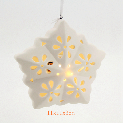 ceramic white ornaments