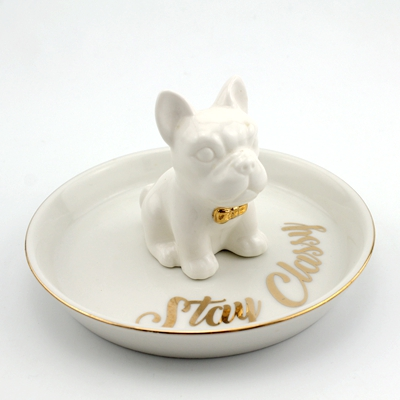 ceramic dog trinket trays